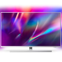 """Телевизор Philips 50PUS8505/12, 50"""" THE ONE UHD 4K LED 3840x2160, DVB-T2/C/S2, Ambilight 3, HDR10+, HLG, Android 9, 60Hz, 802.11ac, Lan, 20W RMS, Swivel Stand, Silver - Телевизори"""