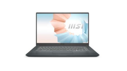 """MSI Modern 15 A11M, i5-1135G7 (up to 4.2 Ghz, 8MB), 15.6"""" 1920x1080, IPS, AG, Iris Xe, 8GB DDR4 3200 (1x8, 2 slots, up to 64GB), 512GB PCIe GEN3x4 SSD, 1xM.2 free, NO OS, Thunderbolt 4, MIL-810G, 2Y, Carbon Gray, 1.6 k - Лаптопи"""